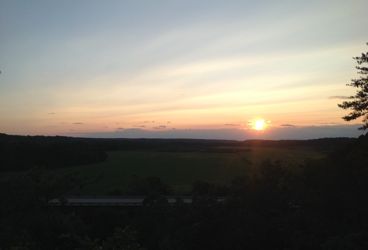 Bluff Sunset of Farm